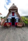 Traditional rural house in Santana on Madeira island, Stock Image