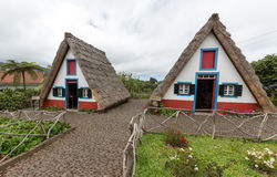 Traditional rural house in Santana on Madeira island, Royalty Free Stock Image