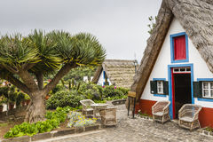 Traditional rural house in Santana Madeira, Portugal. Stock Photography