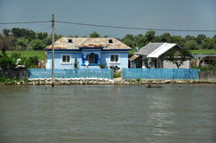 Traditional rural houses in the Danube delta Stock Images