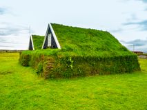 Traditional rural icelandic turf covered house Royalty Free Stock Photography