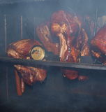 Traditional rural smoked pork Royalty Free Stock Image