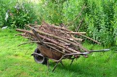 Traditional rural utility timber transport , South Bohemia. Czech Republic Stock Photos