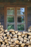 Traditional rural window. Royalty Free Stock Photo