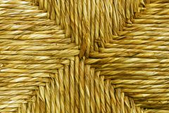 Traditional rush /straw seat detail Royalty Free Stock Images
