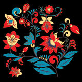Traditional russia or orient flower pattern.  illustration Stock Image