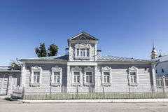 Traditional Russian architecture. House with mezzanine in the Kolomna Kremlin. Royalty Free Stock Images
