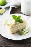 Traditional russian cake Medovik with honey Stock Photo