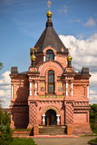 Traditional russian churches in countryside Stock Photography