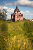 Traditional russian churches in countryside Royalty Free Stock Photography