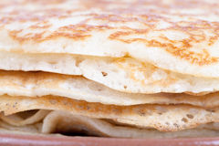 Traditional Russian crepes yeast. Shallow depth of field Royalty Free Stock Photography