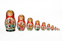 Traditional Russian Dolls Royalty Free Stock Photos