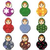 Traditional russian dolls matryoshka scrapbook Stock Photo