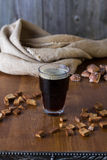 Traditional Russian drink kvass from bread, rye malt, sugar and water. Stock Photo