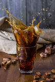 Traditional Russian drink kvass from bread, rye malt, sugar and water. Royalty Free Stock Image