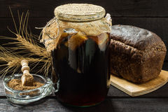 Traditional Russian drink kvass Royalty Free Stock Photography