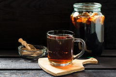 Traditional Russian drink kvass Stock Images