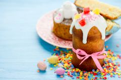 Traditional russian Easter bread kulich. Paska Royalty Free Stock Photos