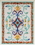 Traditional russian floral ornament on tiles Royalty Free Stock Images
