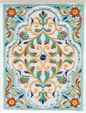 Traditional russian floral ornament on tiles Stock Images