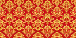 Traditional russian hohloma style seamless pattern Royalty Free Stock Images