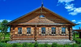 Traditional russian house named izba. Traditional russian house named the izba stock images