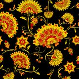 Traditional russian khokhloma seamless pattern. Vector illustration Stock Photos