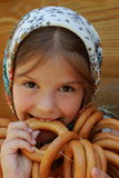 Traditional russian little girl Stock Photo