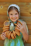 Traditional russian little girl Royalty Free Stock Image