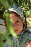 Traditional russian little girl Royalty Free Stock Photography