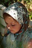 Traditional russian little girl Royalty Free Stock Images