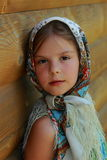Traditional russian little girl Royalty Free Stock Photo