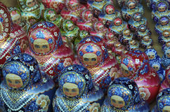 Traditional russian matrioska dolls. In a ordered sequence Royalty Free Stock Images