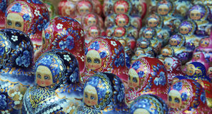 Traditional russian matrioska dolls. In a ordered sequence Royalty Free Stock Photography