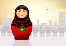 Traditional russian matryoshka doll Stock Photos