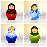 Traditional russian matryoshka dolls Royalty Free Stock Images
