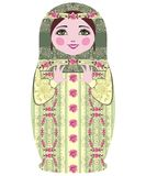 Traditional Russian matryoshka (matrioshka) dolls. Stock Images