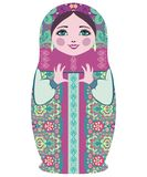 Traditional Russian matryoshka (matrioshka) dolls. Stock Photo