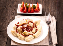 Traditional russian meat dumplings Stock Images