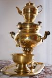 Traditional russian old samovar Stock Photography