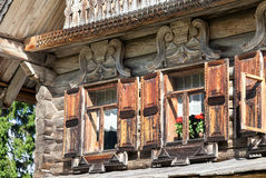 Traditional Russian Old Wooden house Royalty Free Stock Photos