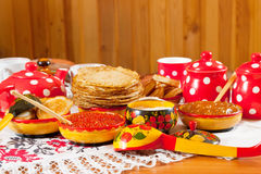 Traditional russian pancake Stock Image