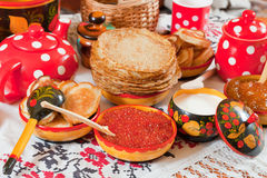 Traditional russian pancake Royalty Free Stock Image