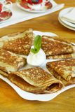 Traditional Russian pancakes Royalty Free Stock Photos