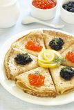 Traditional Russian pancakes Stock Image
