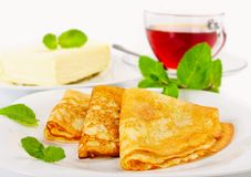 Traditional Russian pancakes Royalty Free Stock Photo