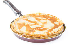 Traditional Russian pancakes for Shrovetide Stock Image