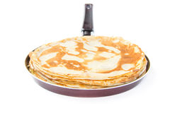 Traditional Russian pancakes for Shrovetide Royalty Free Stock Images