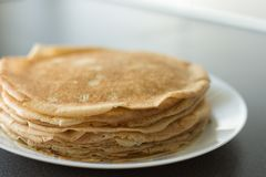 Traditional russian pancakes royalty free stock photography