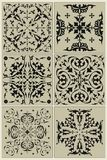 Traditional Russian pattern, black vignette Royalty Free Stock Image